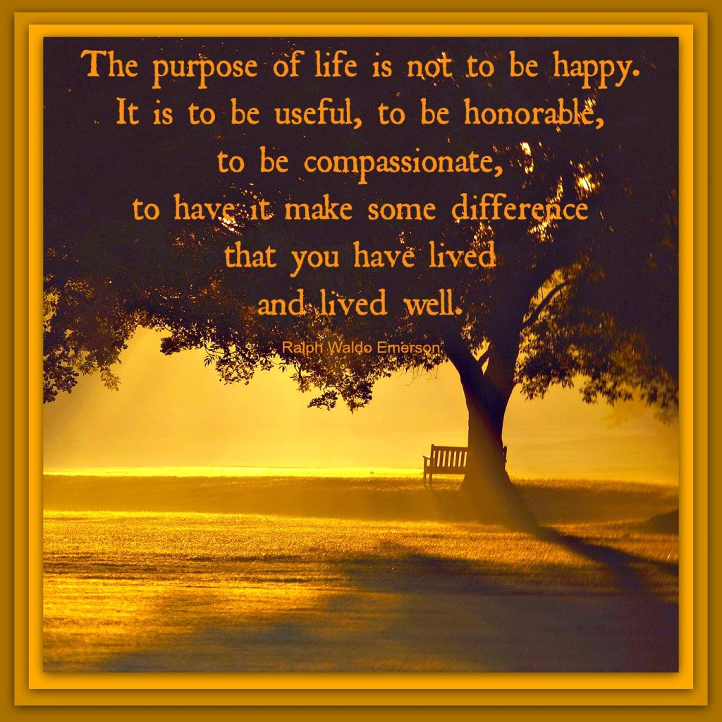 emerson the purpose of life